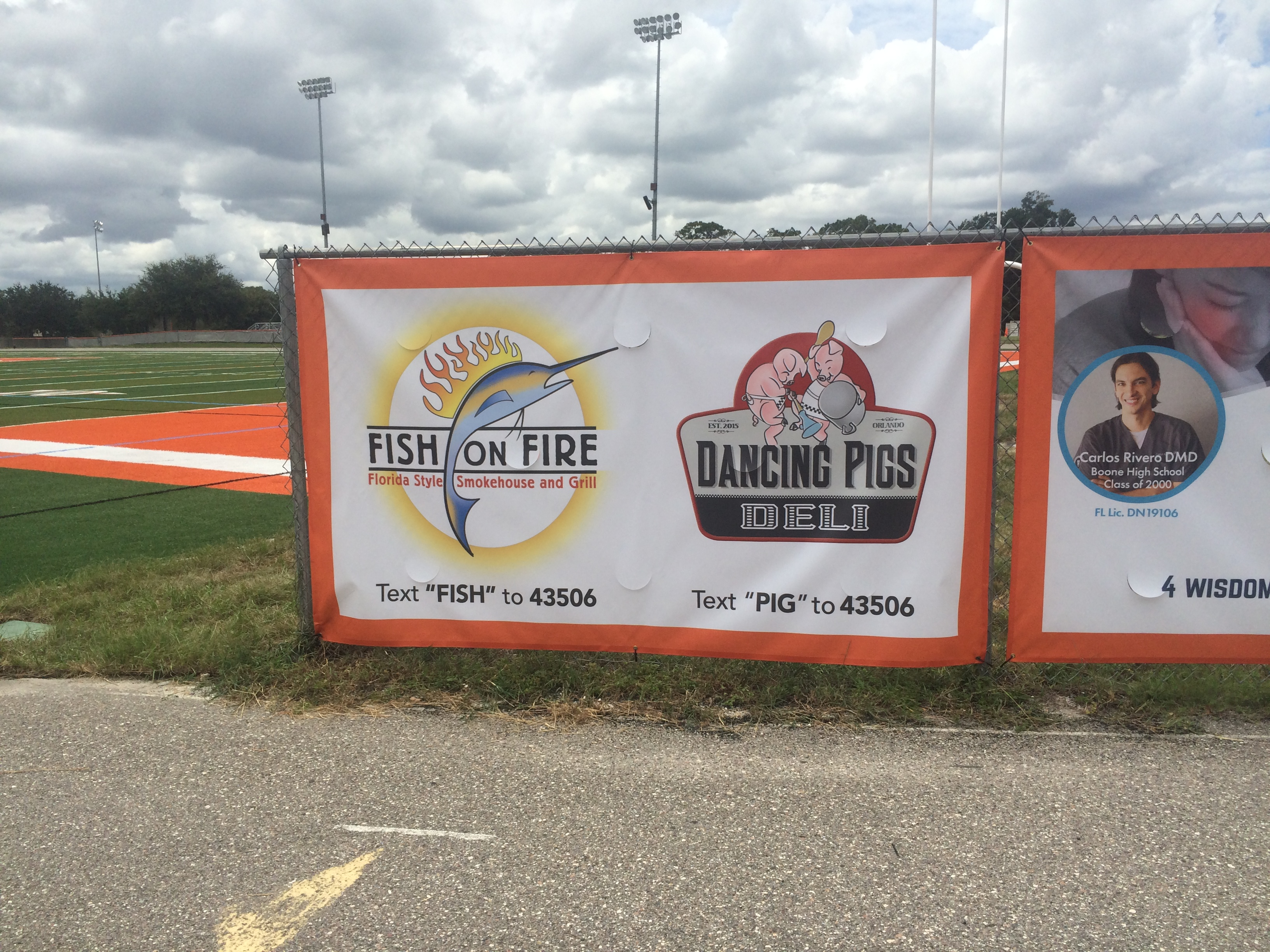 Fish on Fire & Dancing Pigs Deli Sponsorship Banner