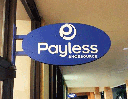 Payless Blade or Shingle Sign