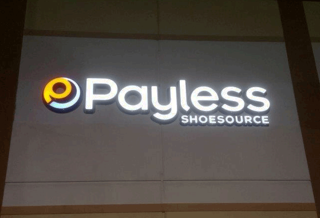 payless Backlit Channel Letters