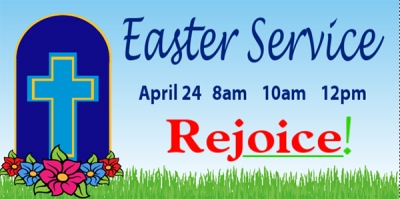 Easter Sunday Service Rejoice Template