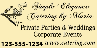 Catering Business Simple Elegance Template