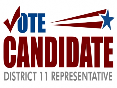 Political Yard Sign District Representative Template