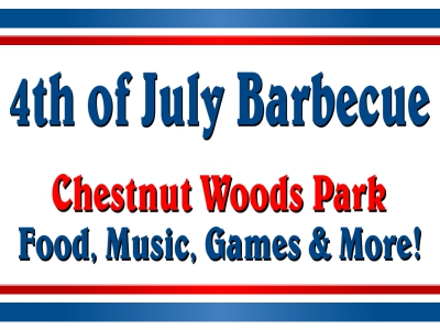 4th of July Yard Sign BBQ in the Park Template