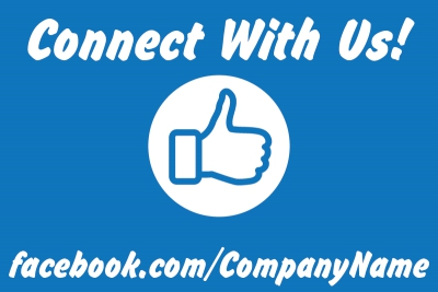 Social Yard Sign Facebook Connect Template