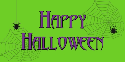 Halloween Holiday Spider Web Banner Template