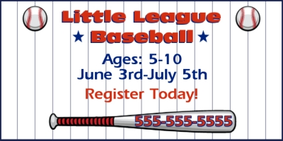 Baseball Sports Little League Registration Template