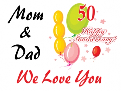 Anniversary Yard Sign Mom & Dad's 50th Template