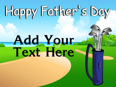 Father's Day Yard Sign Golfing Template