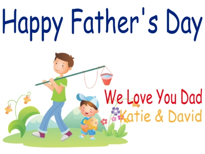 Father's Day Yard Sign Fishing Template