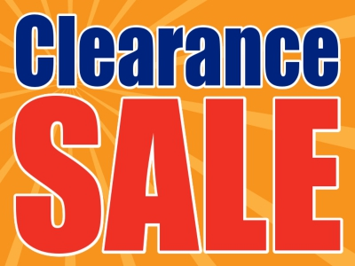 Clearance Sale Yard Sign Orange Burst Background Template
