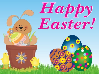 Easter Yard Sign Happy Easter Template