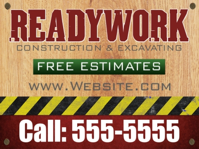 Tradesmen Yard Sign Ready Work Design Template
