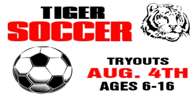 Soccer Sports Banner 'Tiger Tryouts' Template