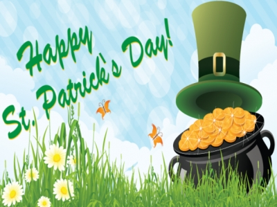 St Patricks Day Yard Sign Pot of Gold Template