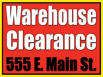 Clearance Sale Yard Sign Red/White Template