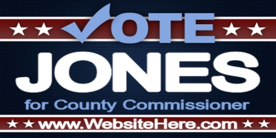 Political Event County Commissioner Banner Template