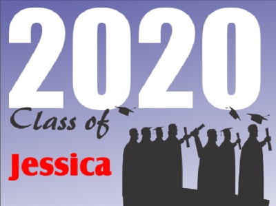 Graduation Yard Sign 'Class of' Template