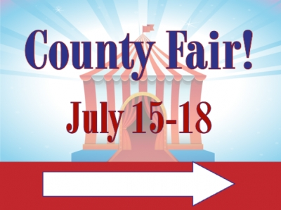 Fair Yard Sign County Fair Directional Template