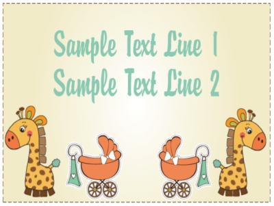 Baby Shower Yard Sign Clipart Giraffe Template
