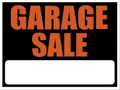 Garage Sale Yard Sign Orange/Black Template