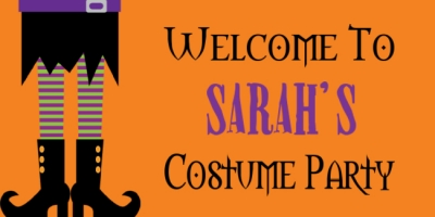 Halloween Holiday Sarah's Costume Party Template
